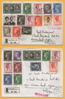 Luxemburg / 2 Einschreiben Von Luxemburg Nach Belgien Von 1968 ? + 1970 - Mischfrankatur - Brieven En Documenten