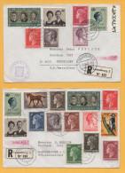 Luxemburg / 2 Einschreiben Von Luxemburg Nach Deutschland (Düsseldorf) Von 1971 - Mischfrankatur - Brieven En Documenten