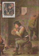 Carte-Maximum LUXEMBOURG N°Yvert 1050 / David Teniers Le Jeune / Le Fumeur - Cartes Maximum