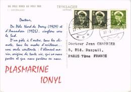 Carte Postée - PUB - PLASMARINE - LE GROENLAND - - Publicité