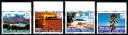 POLYNESIE 1986 - Yv. 252 253 254 255 ** SUP Bdf  Cote= 1,00 EUR - Paysages (sign. CARTOR) (4 Val.) ..Réf.POL22373 - Polynésie Française
