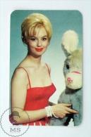Vintage 1966 Small Calendar - Cinema/ Actors Topic: Actress: Mylène Demongeot - Petit Format : 1961-70