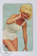 Vintage 1966 Small Calendar - Cinema/ Actors Topic: Pin Up Actress: Maggie Stolk - Calendarios
