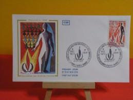 FDC- Déclaration Des Droits De L'homme - Paris - 8.12.1973 - 1er Jour, - FDC