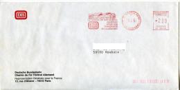 EMA Transport,train,DB Deutche Bundesbahn,Le Chemin De Fer Federal Allemand,rue D'Alsace,Paris,lettre 19.4.1991 - Trains