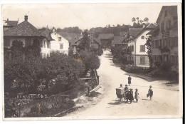 BENKEN: Animierte Dorfpassage, Kinderwagen, Echt-Foto-AK 1913 - SG St. Gall