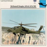 McDONNELL DOUGLAS AH-64 APACHE    2  SCAN    (NUOVO CON DESCRIZIONE TECNICA SUL RETRO) - Elicotteri