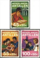 Netherlands Antilles 1984 Child Welfare Organizations Childhood Youth Reading Books Stamps MNH Michel 542-544 - Childhood & Youth
