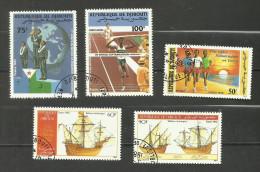 Djibouti N°614, 615, 618, 620, 621 Cote 3.35 Euros - Yibuti (1977-...)