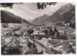 SCHWANDEN: Fliegeraufnahme Mit Bahnhof, Zug SBB ~1960 - GL Glaris