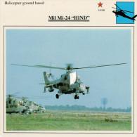 """MIL MI-24 """"HIND""""    2  SCAN    (NUOVO CON DESCRIZIONE TECNICA SUL RETRO) - Elicotteri"""