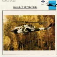 BELL  AH-1W  SUPERCOBRA     2  SCAN    (NUOVO CON DESCRIZIONE TECNICA SUL RETRO) - Elicotteri