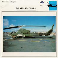 BELL  AH-1 SEACOBRA     2  SCAN    (NUOVO CON DESCRIZIONE TECNICA SUL RETRO) - Elicotteri