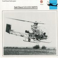 SUD-OUEST S.O. 1221 DJINN     2  SCAN    (NUOVO CON DESCRIZIONE TECNICA SUL RETRO) - Elicotteri