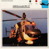 MBB/KAWASAKI  BK 117   2  SCAN    (NUOVO CON DESCRIZIONE TECNICA SUL RETRO) - Elicotteri