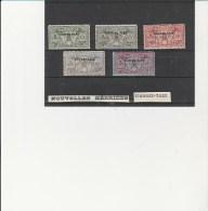 NOUVELLES - HEBRIDES -TIMBRES TAXE N° 1 A 5 OBLITERES - COTE : 32,50 €