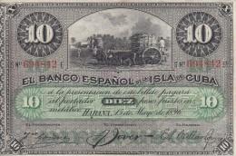 0125 BILLETE CUBA ESPAÑOL - Cuba