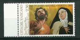 VATICANO - ANNO 2015 - NUOVO - V CENTENARIO DELLA NASCITA DI SAN FILIPPO NERI E SANTA TERESA DI GESù - PAPA FRANCESCO - - Vaticano