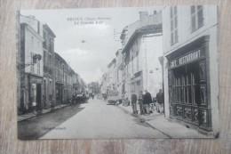 CPA 79 BRIOUX  CAFE RESTAURANT - Brioux Sur Boutonne