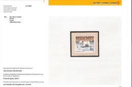 SUISSE 2008 Un(1) YT 1973 ** L'Ours Plume Livre Pour Enfants Hans De Beer Autoadhésif Lars Flocons + Carton Officiel 693 - Schweiz