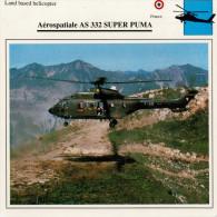 AEROSPATIALE  AS 332  SUPER PUME    2  SCAN    (NUOVO CON DESCRIZIONE TECNICA SUL RETRO) - Elicotteri