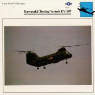 KAWASAKI (BOEING  VERTOL) KV-107   2  SCAN    (NUOVO CON DESCRIZIONE TECNICA SUL RETRO) - Elicotteri