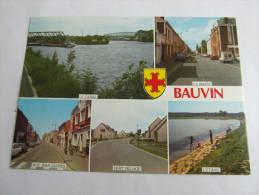 BAUVIN  Canal Maire étang Vert Village Rue Jean Jaures . Multivue  59 Nord - France