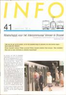 STIB  MIVB - PERIODIQUE BIMESTRIEL - TWEEMAANDELIJKS TIJDSCHRIFT - N° 41 - MARS Et AVRIL 1987 - Transportation