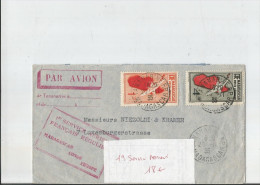Lettre 1er Service Aérien MADAGASCAR 1935 - Madagascar (1889-1960)