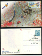 India  2007  Space Research Organisation  Einstein  Satelite  Card   # 88712  Inde Indien - Briefe U. Dokumente