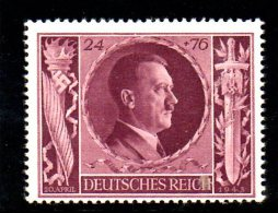 TERZO REICH 1943 ,  Compleanno Hitler  Unificato N. 767  *** MNH - Germania