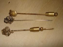 Lot De 3 épingles Cravates  2 En Argent Fleur + 1 Metal Chimere   Voir Photos - Accessories