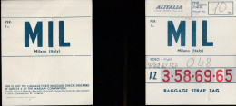 DOC2) ALITALIA BAGGAGE TICKET ETICHETTA BAGAGLIO 1954 CIRCA - Biglietti