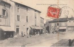CHALUS  PLACE DE LA FONTAINE    1909. - Chalus