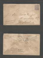 NICARAGUA. Cartas. 1898 (Jan) Aus (German) Bluefields Schlfpostbrief - Germany, Wiesbaden (15 Feb 98) Via NYC (Feb 1)... - Nicaragua