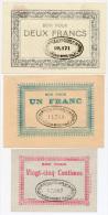 1914 - 1918 // NOEUX-LES-MINES (Pas De Calais) // Compagnie Des Mines De VICOIGNE // 25 Centimes & 1 Et 2 Francs - Bons & Nécessité