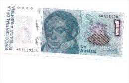6-493. Billete Argentina. 1 Austral, Plancha - Angola