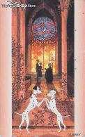 Télécarte Japon  / 110-190236 - DISNEY STORE -101 DALMATIENS / Vitrail Stained Glass - Japan Phonecard Telefonkarte - Disney