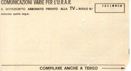 A 3792 - Spettacolo, Televisione, URAR - Serie Televisive