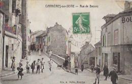 """CARRIERES-Sur-SEINE ( 78-Yvelines ) Rue De Bezons """" Belle Animation """" - Carrières-sur-Seine"""