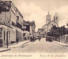 LEMBRANÇA De FLORIANOPOLIS Praça 15 De Novembro (GRANDE HOTEL) EDITOR Livraria Moderna. Old Postcard BRASIL BRAZIL 1900s - Rio De Janeiro