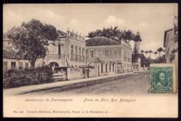 LEMBRANÇA De FLORIANOPOLIS Praia De Fora - Rua Bocayuva. EDITOR Livraria Moderna. Old Postcard BRASIL BRAZIL 1900s - Rio De Janeiro