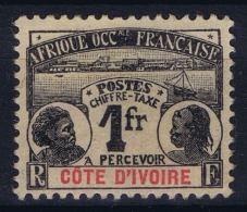 Cote D'Ivoire   Yv Nr Taxe  8 MH/* Falz/ Charniere - Ivory Coast (1892-1944)
