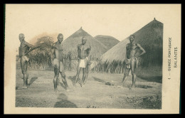 GUINÉ -BISSAU- COSTUMES - Balantes  ( Ed. D. A. Longuet Nº 4)  Carte Postale - Guinea-Bissau
