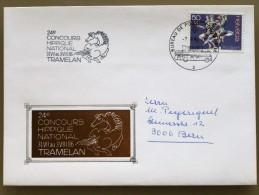 SUISSE / SCHWEIZ / SWITZERLAND // 1986, TRAMELAN, 24e CONCOURS HIPPIQUE, 2.8.86, Sonderstempel / Sonderumschlag