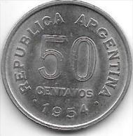 Argentina 50 Centavos 1954 Km 49  Xf+ - Argentine