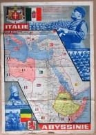 """1935 GRANDE AFFICHE MUSSOLINI """" LA CONQUISTA ITALIANA DELL' ETIOPIA """" Abessini�  guerre - Ethiopie -  fascism - fascisme"""