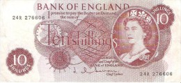 England - Pick 373 - 10 Shillings 1962-1966 - F - 1952-… : Elizabeth II