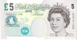 England - Pick 391 - 5 Pounds 2004 - XF+ - 1952-… : Elizabeth II