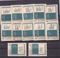 RUSSIA --- MATCHBOX LABELS -- 12  LITERATURE - 1969 - Boites D'allumettes - Etiquettes